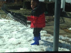 Jayden snow day